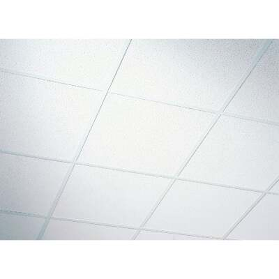 Radar Fissured 2 Ft. x 2 Ft. White Mineral Fiber Shadowline Tapered Suspended Ceiling Tile (16-Count)