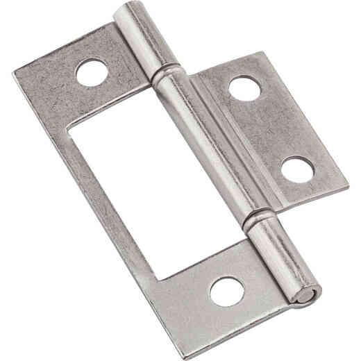 National Non-Removable Pin Surface Mount Satin Nickel Bi-Fold Door Hinge