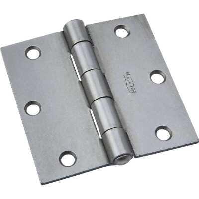 National 3-1/2 In. Square Steel Broad Door Hinge