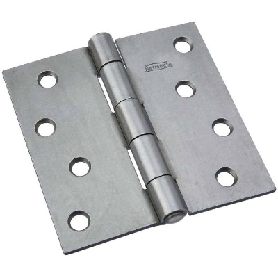 National 4 In. Square Steel Broad Door Hinge