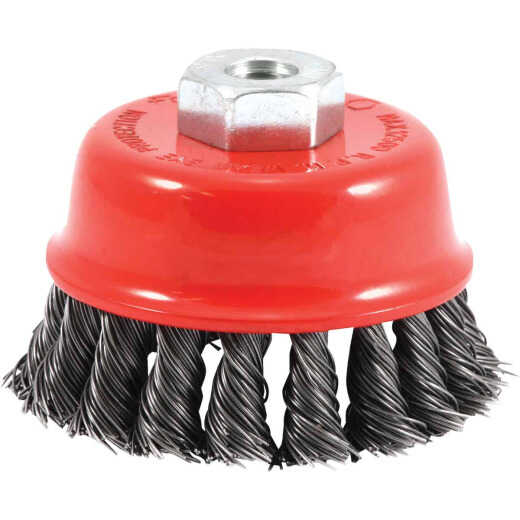 Forney 2-3/4 In. Knotted .020 In. Angle Grinder Wire Brush