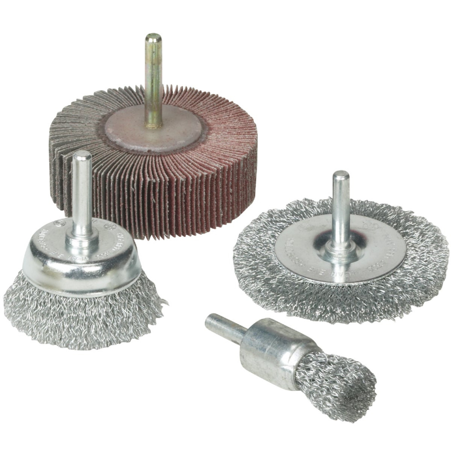 Weiler Vortec 4 pcs Abrasive Wheel & Brush Set Image 1