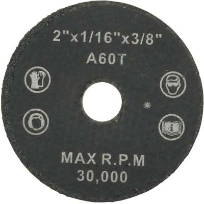 Weiler Vortec Type 1 2 In. x 1/16 In. x 3/8 In. Metal/Plastic Cut-Off Wheel
