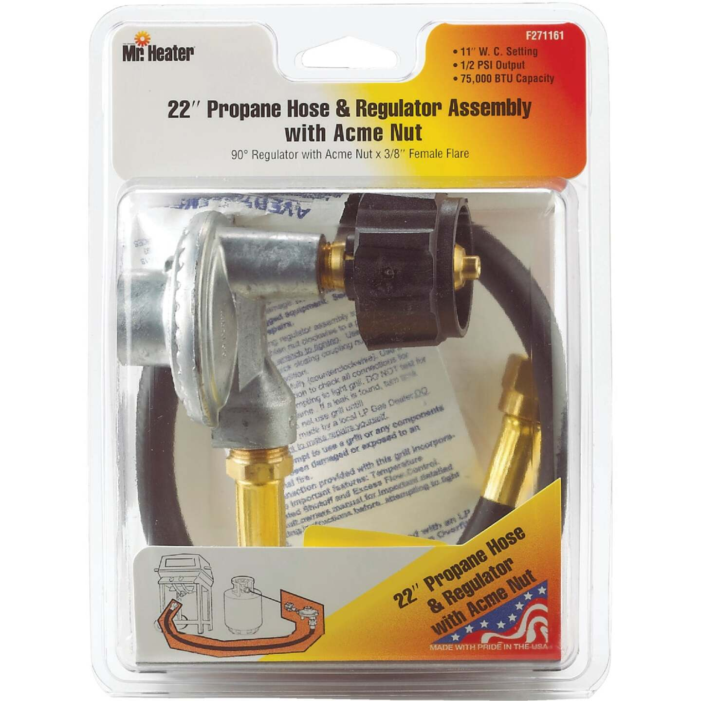 MR. HEATER 22 In. x 3/8 In. Female Hose & Regulator Kit Image 2