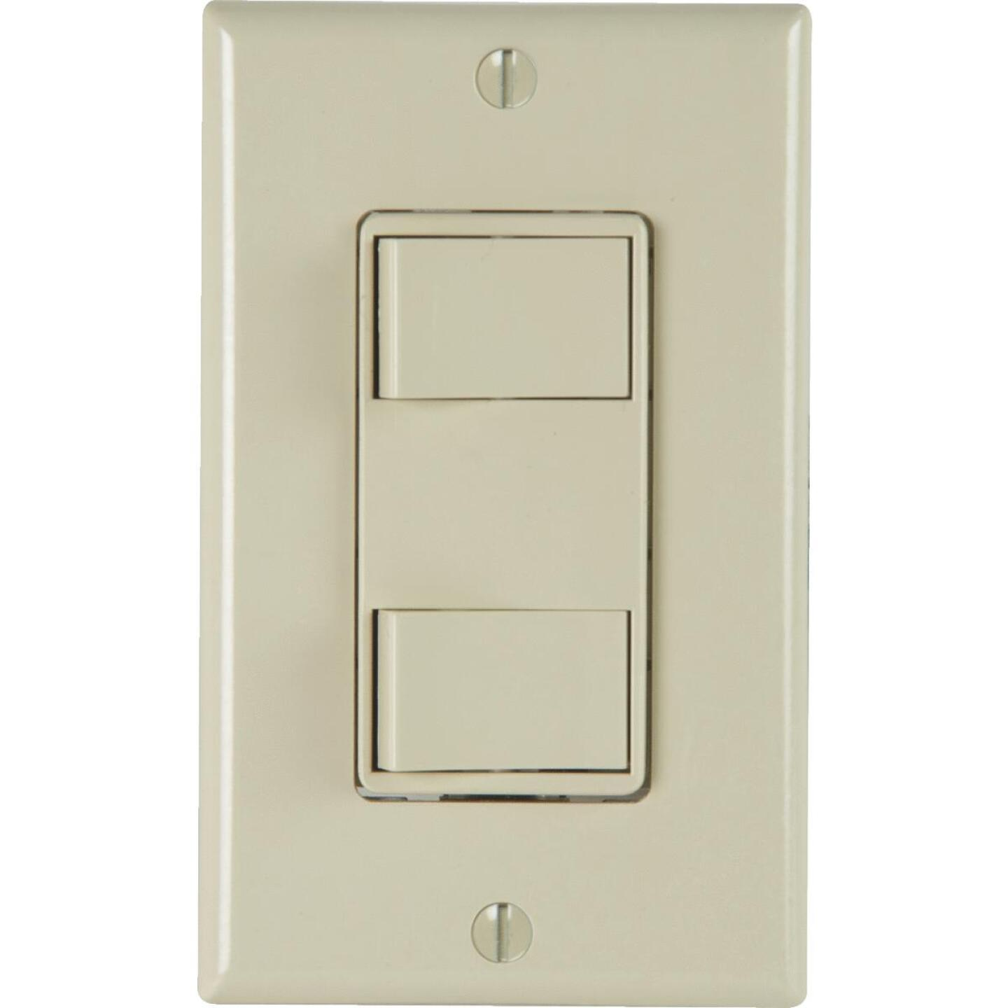 Broan 2-Function 20A/15A 120V Ivory Rocker Switch Image 1