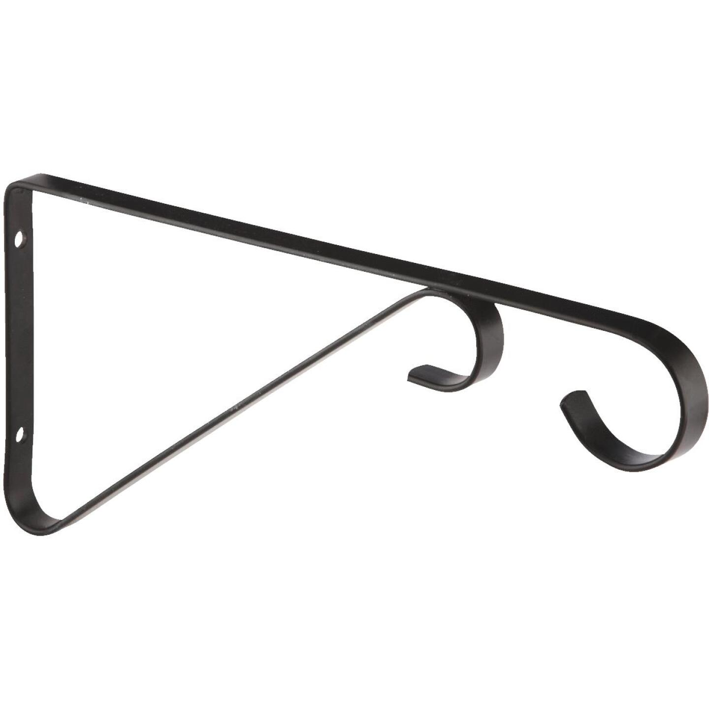 National 9 In. Black Steel Hanging Plant Bracket Image 2