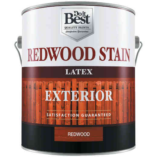 Do it Best Exterior Stain, Redwood, 1 Gal.